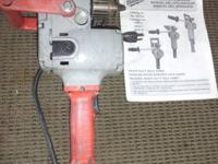 (1) Milwaukee 1675-1 Hole Hawg Right Angle Drill Used