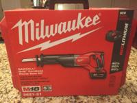 Brand new, never used Milwaukee M18 cordless