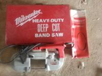 I bought this Milwaukee 6230 deep cut bandsaw brand new