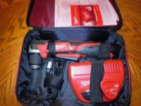 MILWAUKEE M12 RED Lithium Ion Cordless Angle Drill Kit