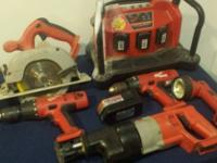 Milwaukee 18v Power Plus 8 pc tool set + Extras! This