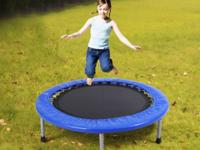 This 38''Foldable Mini Band Trampoline provides more