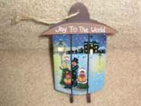 mini Christmas painted sled ornament (country style),