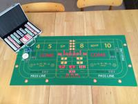 This custom mini table-top craps set up is ultra total.