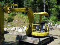 Komatsu pc50uu, 2800hrs., open cab, much. Thumb, 18""