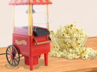 This Popcorn Popper Cart has a fun unique vintage style