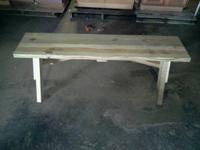 Mini Picnic Table Bench made from Pressure Treated