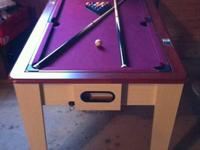 Miniature swimming pool table that quickly turns over