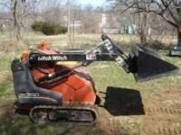 "mini skid steer for rent with trailer 36"" bucket with"