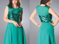 A-Line cocktail dress with handmade sequins