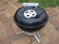 Handy little charcoal grill, small enough to travel
