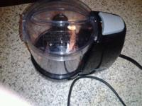 Mini Food Chopper works good. Real handy to have around