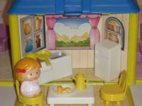 Small dollhouse with four rooms. -Bedroom -Living Room