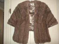Mink Cape: Size M $75.00 Coats & Jackets: $25.00 Black