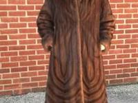 Feraud Paris full length mink coat. All female pelts.