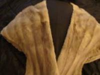 Mink stole from the 1950's. Great shape and gently