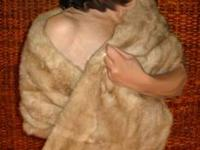 Blonde and Beautiful MINK STOLE Excellent condition