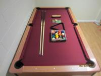 Barely used Minnesota Fats Fairfax 7' Pool Table