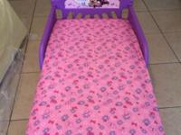 Hardly ever used minnie mouse toddler bed with