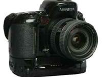 Minolta 800si (35mm film camera) with vertical grip,