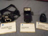 WE ARE SELLING OUR MINOLTA MAXXUM 5000 35MM CAMERA. IT