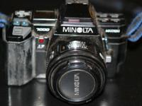 Minolta Maxxum 7000 film SLR camera includes a prime