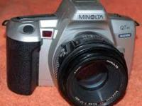 PROFESSIONAL MINOLTA QTsi MAXXUM CAMERA WITH 50 MM