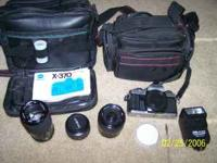 Minolta x-370 camera with flash and manual self timer