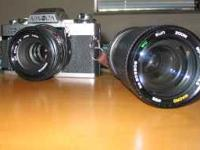 This Konica Minolta 35mm film camera comes with an