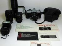 This is a 1979 Minolta XG9 35mm SLR movie camera