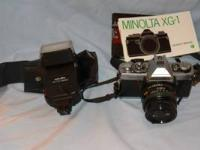 Minolta XG-1 35mm quality single-lens reflex camera.
