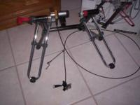 Minoura V270 Stationary Bike Stand for indoor training.