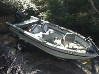 Mint condition 17' 1994 bass tracker boat with trailer.
