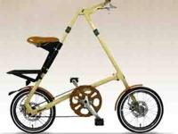 "Like new...Strida LT ""Limited Edition"" cream color"