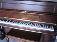 It's really mint condition young chang piano Barely