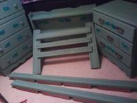 Mint Green Dinosaur Bedroom Set Includes Dresser Night