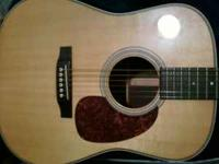 Hi i have a real nice Martin Acoustic Guitar for sale.