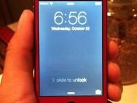 Hey simply selling my red iphone 4 16gb that is in MINT