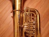 MIRAPHONE 86A BBb 4ROTOR 4/4 TUBA $6500WITH MTS HARD