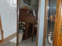 Approx. 4 1/2 feet long x 1 foot wide. Glass mirror is