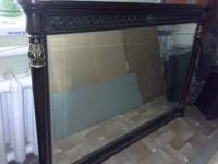 very beautiful vintage mirror in one piece , a wooden