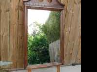 Large mirror for dressor, or remove brackets and hang