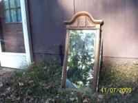 "Mediterranean style mirror with frame - 50 1/2"" at top"