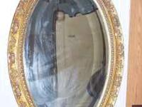 Mirror Oval Shape nice heavy about 40 inches long , by
