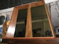 I made this mirror in my shop one of a kind angled all