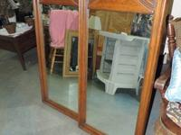 "Mirror with Lumber Framework - 676. 22""w x 1.5""d x 51""h"