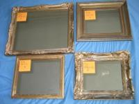 SMALL FRAMED DECORATIVE MIRRORS individually as noted