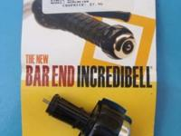 New Mirrycle Incredibell Bar End Bicycle Bell, Chrome.