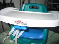 portable booster high chair $12 changing table $30