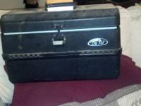 two tackle boxes one large one small misc lures and